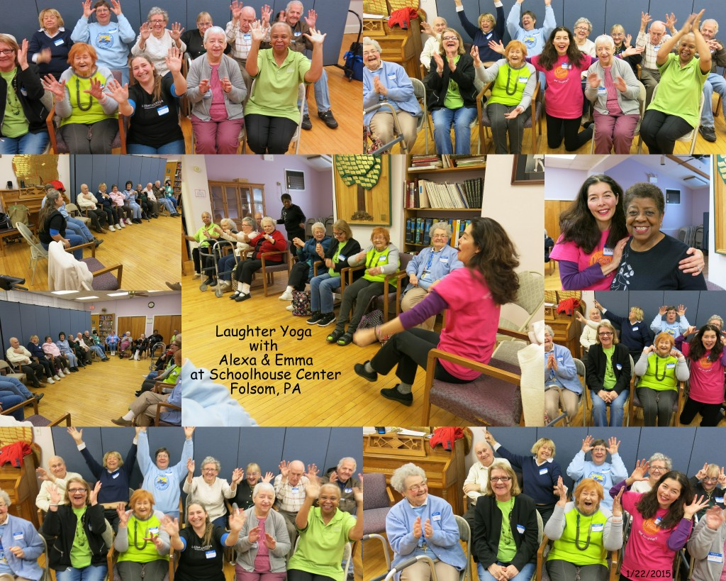 Laughter Yoga at the Schoolhouse Center in Folsom, PA Jan 22, 2015