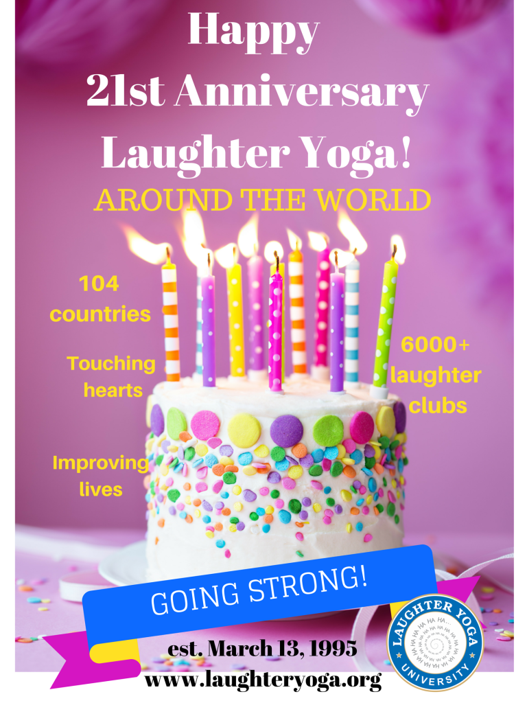 Laughter Yoga 21st Anniversary Poster (4)