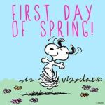 first day of spring snoopy