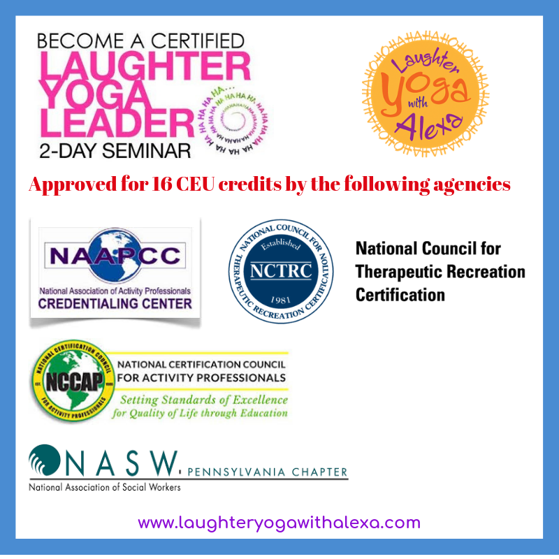 Yoga Connects 2 Day Training With >> Trainings Workshops Laughter Yoga With Alexa